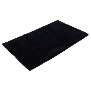 Rio Plain Bath Mat, Black, Large