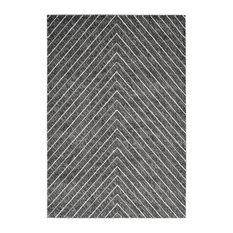 Dominica Contemporary Area Rug, Silver, 80x150 cm