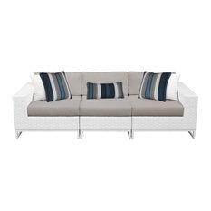 Miami 3 Piece Outdoor Wicker Patio Furniture Set 03c