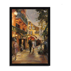 """Evening In Paris "" By Marilyn Hageman, Framed Painting Print, Ready To Hang"