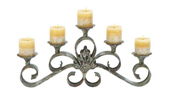 """Metal Candle Holder, 23""""W, 11""""H"""