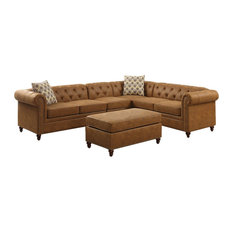 Camel Sectional Sofas Houzz