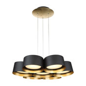 Modern Forms Marimba LED Chandelier, Gold Leaf, 24""