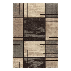 Orian Rugs   Orian Rugs Plush Pile Blocks Armada Gray Area Rug, 7u002710
