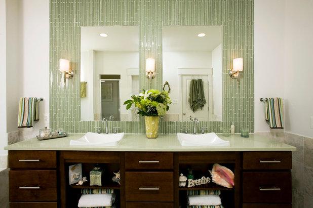 Transitional Bathroom by John F. Heltzel AIA, PC Architects