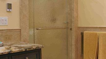 Bluebell Kitchens Glass Shower Door