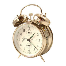 Double Bell Alarm Clock, Silver