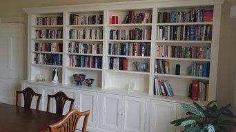 Bespoke painted bookcase