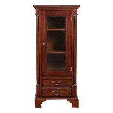 Empire Mahogany Display Cabinet, Walnut