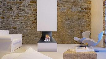 Jetmaster's Horizon 3 Sided Fireplace
