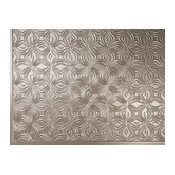 "Dogwood Backsplash Tiles Decorative Wall Paneling, 18""x24"", Brushed Nickel"