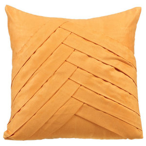 Textured Pintuck 30x30 Suede Mustard Cushion Cover, Mustard No Limits No Lines