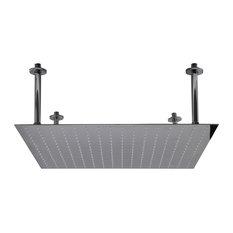 "ALFI brand RAIN24S-PSS 24"" Square Ultra Thin Rain Shower Head Stainless Steel"