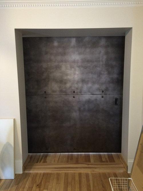 Patina Steel Barn Door