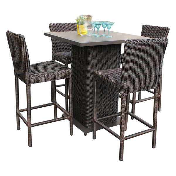 creative inspiration better homes and gardens patio cushions. Venice 5 Piece Pub Table With Barstools  Chestnut Brown DIY Patio Furniture