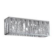 Three Light Chrome Silver Shade Vanity