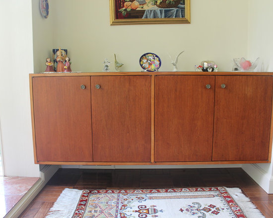 Mid Century Modern Floating Hutch   China Cabinets And Hutches