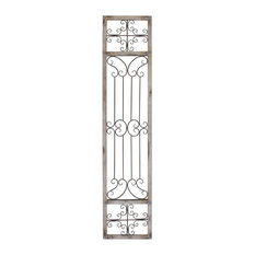 """Woodland Imports - Classic and Contemporary Metal Wood Wall Decor 72""""H, 16""""W Wall Decor Home Decor - Wall Accents"""
