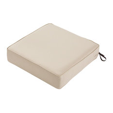 "Square Patio Lounge Seat Cushion, Antique Beige, 19""x19""x5"""