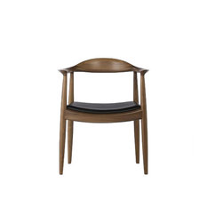 Calder Dining Armchair Mid-Century Walnut And Black