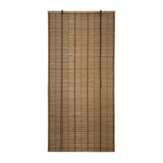 """Light Brown Bamboo Midollino Wooden Blinds Light Filtering Shades 36""""x72"""""""