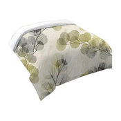 Laural Home Smoky X-Ray of Eucalyptus Leaves Duvet Cover, Queen