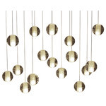 Lightupmyhome.com - Lightupmyhome Orion 16-Light LED Rectangular Floating Glass Ball Chandelier - This gorgeous mini pendant pairs sixteen beautiful clear glass balls with a gorgeous soft subtle display of light. This pendant can be multiplied and set up in a cluster creating a floating glass ball effect.