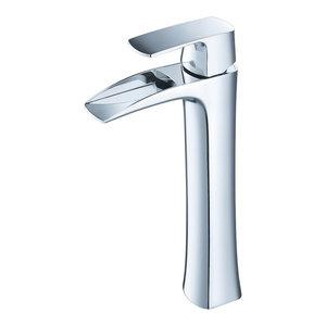 Fresca Fortore Single Hole Vessel Mount Bathroom Vanity Faucet, Chrome