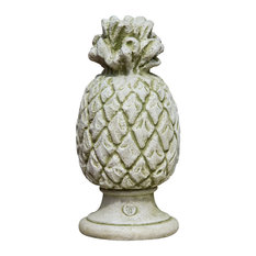 Campania Williamsburg Pineapple Finial, Cast Stone Garden Art