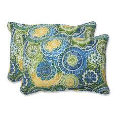 Pillow Perfect, Inc.   Omnia Lagoon Oversized Rectangular Throw Pillow, Set  Of 2