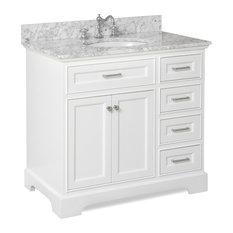 White Bathroom Vanity 4-drawer bathroom vanities | houzz