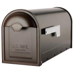 White Galvanized Solar Group E1100W00 Elite Post Mailbox 8.75 x 6.75 x 19-In.