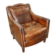 1st Avenue   Stately Leather Club Chair   Armchairs And Accent Chairs