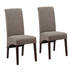 Simpli Home Avalon Deluxe Parson Dining Chair in Mocha (Set of 2)