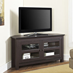 i would select a cabinet for the tv that correlates with the finish on the coffee and end tables