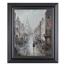 """Paris Walk I"" By Peter Kyjanista Framed Painting"
