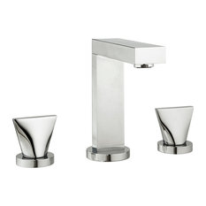 Extend Widespread Faucet With Knobs and Drain, Polished Nickel