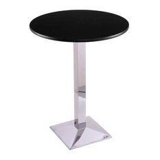 Adjustable Counter Table with Round Top, 36 in. H