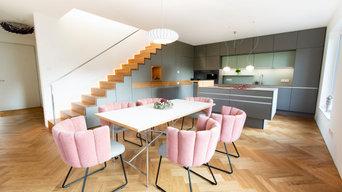 Küche und Treppe vereint