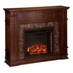 Highgate Electric Media Fireplace - Whiskey Maple