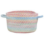 """Capel Rugs - Baby's Breath Braided Basket, Medium Blue, 20""""x20""""x12"""" - Reversible and durable, Capel braids are a hallmark of American tradition. Features: Construction: Braided Country of Origin: USASpecifications: Pile Height: 3/8"""" - 1/2"""""""