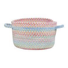 """Baby's Breath Braided Basket, Medium Blue, 12""""x12""""x7.5"""""""