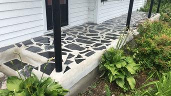 inlaid stone granite