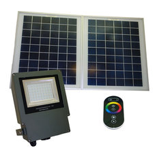 Solar Goes Green Outdoor Ed Remote Controlled Color Changing Led Flood Light