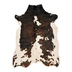 """Southwestern Faux Cowhide Grand Canyon Area Rug, Beige/Brown, 6'2""""x8'"""