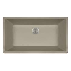 Large Single Bowl Undermount AstraGranite Kitchen Sink, Slate