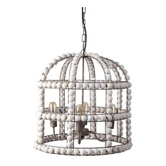 Mercana Coastal Chandelier With White Finish 67952