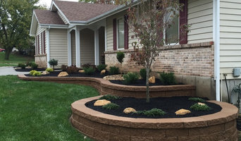 St.Charles, new retaining wall. & custom landscape