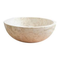 Tikamoon - Vasque blanche en marbre Ibyza Cream - Lavabos