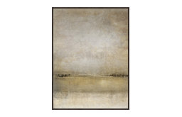"Serene Views VI, 31.25""x41.25"", Espresso Natural Wood Gallery Floater"
